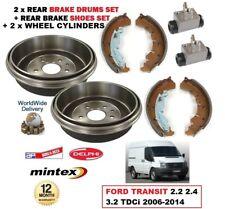 Heck Bremstrommeln Schuhe 2 x Zylinder für Ford Transit 2.2 2.4 3.2 TDCi