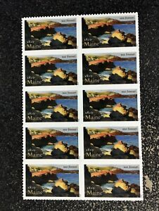 2020USA #5456 Forever Maine Statehood  - Block of 10 Mint Stamps