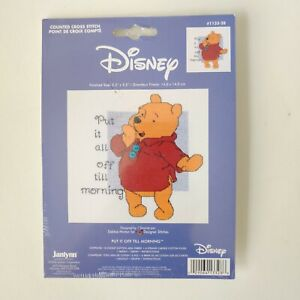 2004 Janlynn Winnie The Pooh Counted Cross Stitch 5.5 in x 5.5 in NOS