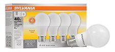 SYLVANIA, 40W Equivalent, LED Light Bulb, A19 Lamp, 4 Pack, Soft White, Energy S