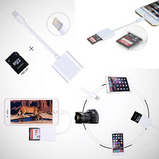 New Lightning to SD Card Camera Memory Reader Adapter for iPhone iPad Mini Air