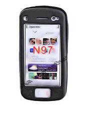 Silikon TPU Handy Cover Case Hülle Schwarz für Nokia N97 + Displayschutzfolie