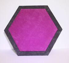 Hexagonal Jewellery Display Counter/Serving Mat Fushia pink/ Ash grey
