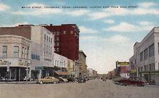 Postcard Broad Street Texarkana Texas Arkansas Looking East from Main Street