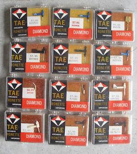 Lot of 12 Vintage TAE Ronette Diamond Record Player Needles NIP