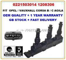 OPEL VAUXHALL AGILA CORSA B / C 1.0 IGNITION COIL 0221503014 1208306 OEM QUALITY
