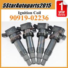 Set 4 New Ignition Coil For 1998-2005 Toyota Altezza Gita SXE10 3SGE 90919-02236