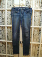 "AMERICAN EAGLE OUTFITTERS STRETCH SKINNY SZ 4 WOMEN JEANS-31"" INSEAM-DISTRESSED"