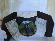 Knowles Bonnie & Rhett Gone With The Wind 8 1/2 Inch Collector Plate Nib