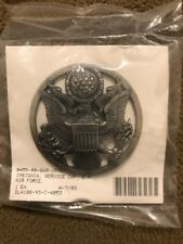 Genuine US USAF Service Cap Badge Air Force Insignia Enlisted Personnel - NEW