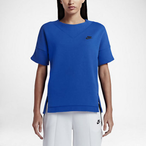 New Nike Women Sport Top S/M /Tech Fleece Women's Crew/premium quality/blue/ £65