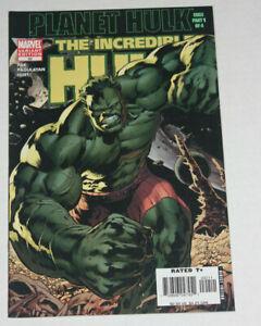 Incredible Hulk #92 2006 1st Planet Hulk Begins Hitch 2nd Variant NM 9.6 to 9.8