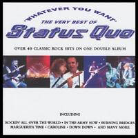 STATUS QUO (2 CD) WHATEVER YOU WANT : THE VERY BEST OF ~ GREATEST HITS *NEW*