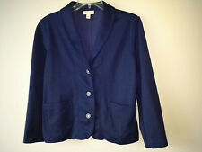 Appleseeds  Navy Blue  Long Sleeve Cotton/Poly Knit  Jacket Blazer ~ Size L