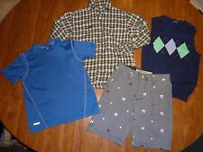 MIXED LOT SZ 5/6 BOYS CLOTHING - MICROS SHORTS/POLO FLANNEL/CARTERS/STARTER
