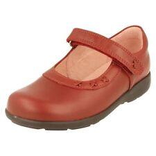 Chaussures babies rouges en cuir pour fille de 2 à 16 ans