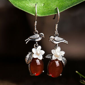 100% Handcrafted Silver Drop Dangle Earring 925 Sterling Hand-made Jewelry Gift