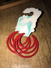 NEW Urban Outfitters Red Plastic Hoop Earrings Statement