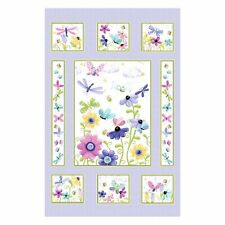 Lilac Flutter Susybee Fabric Panel By Hamil Textiles Cotton Quilting Fabric