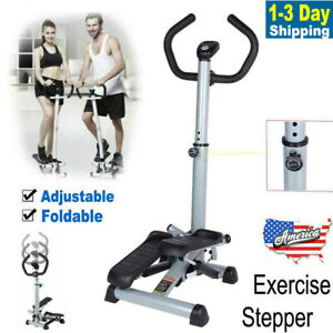 Folding Stepper Training Home Exercise Fitness Handle Bar Climber Rowing Machine