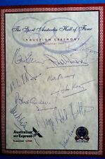 HALL OF FAME Awesome Original Parchment SIGNED BY 10 AUSSIE LEGEND INDUCTEES