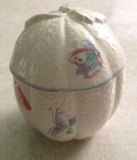 Elizabeth Arden ceramic trinket box with butterflies made in Japan
