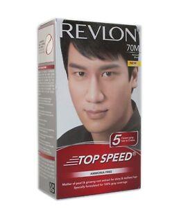 Revlon Top Speed Hair Color Man, Natural Black 70, 100 gm (free shipping world)