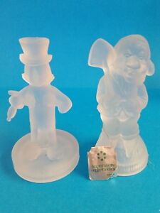 Disney Productions Imperatore Oggettistica (Italy) Frosted Glass Figurines # 2