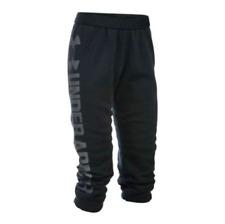 Women's UNDER ARMOUR UA Favorite Fleece Black Capri Sweatpants NWT XL XTRA LARGE