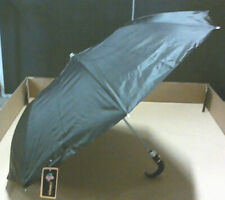 NEW Umbrella Two Section Retractable With Hook Handles 23 Inch High Black