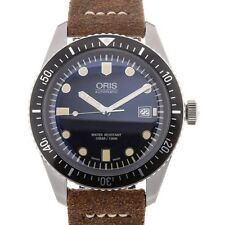 Oris Divers Sixty-Five 42mm Date Brown Leather Herrenuhr/Unisex 01 733 7720 4...