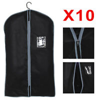 10 Breathable Zip Up Hanging Suit Dress Coat Garment Bag Clothes Cover Dustproof