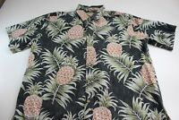 Cooke Street Honolulu Pineapple Pirnt CAMP SHIRT XL Extra Large