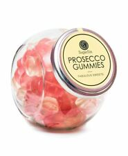 SugarSin® Prosecco Gummies Sparkling Gummy Jelly Sweets Gift Glass Jar 280g