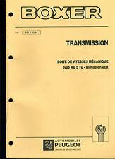 (120) MANUEL ATELIER RÉPARATION PEUGEOT BOXER TRANSMISSION BVM ME5TU du 02-1994