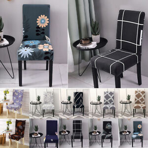 Floral Printed Stretch Dining Chair Covers Seat Spandex Slipcovers Home Decor