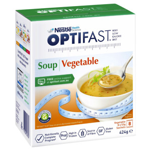 Optifast VLCD Vegetable Soup 8 x 53g Sachets (424g) Low Calorie Meal Replacement