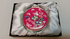 Makeup Mirror Compact Cosmetic Pocket Mirrors MOP Korea/Flowers Butterfly Design