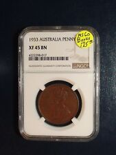 1933 Australia Penny NGC XF45 1P Coin PRICED TO SELL RIGHT NOW!!