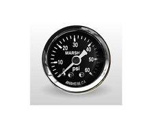 "Marshall Gauge 0-60 Psi Fuel / Oil Pressure Gauge Black 1.5"" Diameter (1/8"" NPT)"