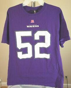 Baltimore Ravens NFL Classic Purple Ray Lewis #52 Large T-Shirt
