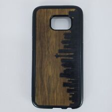 Carved Wood Case Galaxy S7 Seattle Skyline Samsung Back Fitted Cover