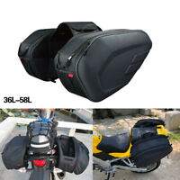 Motorcycle Pannier Bags Luggage Saddle Bags with Rain Cover For BMW Honda Yamaha