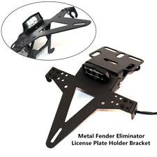 Motorcycle Fender License Plate Frame Cover Bracket Eliminator w/ LED Taillight