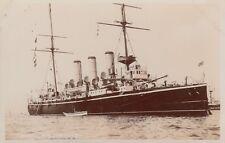 "Royal Navy Real Photo. HMS ""Furious"" Cruiser. HMS ""Forte"" Hulk. ""Vernon"" c 1896"
