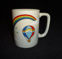 "Otagiri Hot Air Balloon Ceramic Mug Vintage Coffee Cup JAPAN 4"""