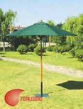 PARASOL STRUCTURE WOOD ROUND 250CM GREEN GARDEN FURNITURE OUTER ART.12176