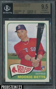 2014 Topps Heritage Mookie Betts Boston Red Sox RC Rookie BGS 9.5 w/ 10