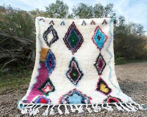 Rug Azilal Moroccan Berber Wool Rug Handmade Hand Knotted Carpet Morocco Rug