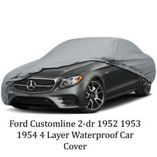 Ford Customline 2-dr 1952 1953 1954 4 Layer Waterproof Car Cover